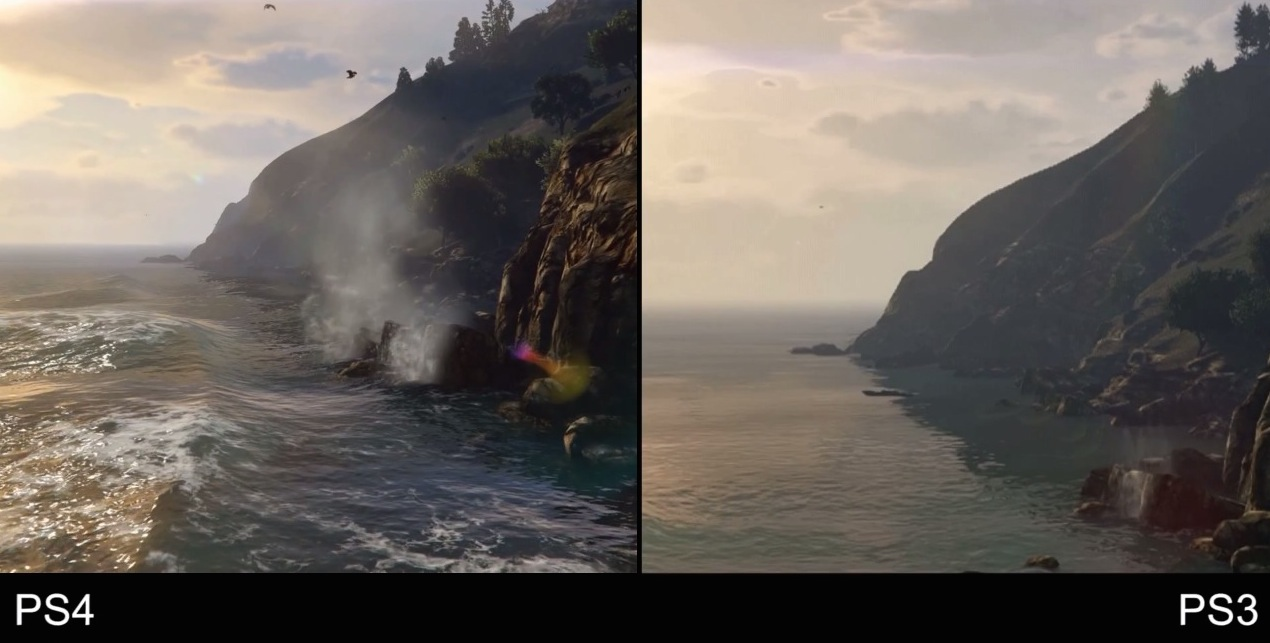 Grand Theft Auto V, video-confronto tra versioni PS3 e PS4