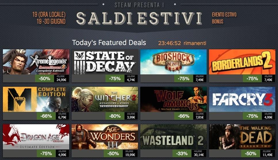 Saldi Steam estivi 2014, ultimo giorno: 40 titoli in offerta