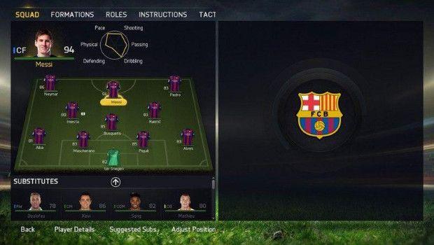 FIFA 15: ecco il nuovo modulo per la gestione della squadra