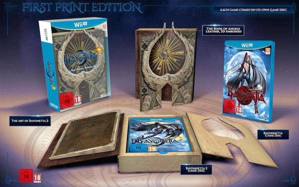 Bayonetta 2, nuove immagini e artwork dal Nintendo Direct: svelata la First Print Edition