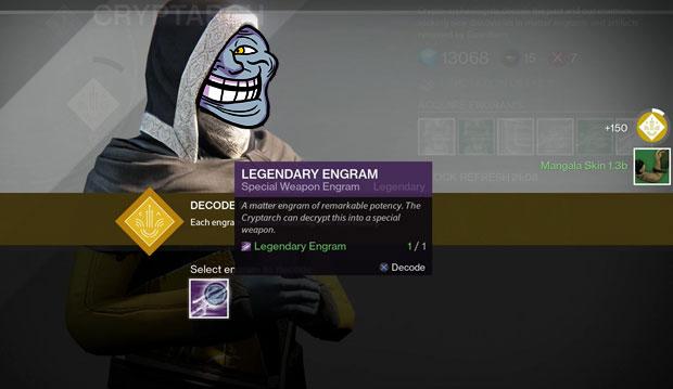"""Destiny: il prossimo update risolverà il problema dei """"falsi"""" engrammi Leggendari"""