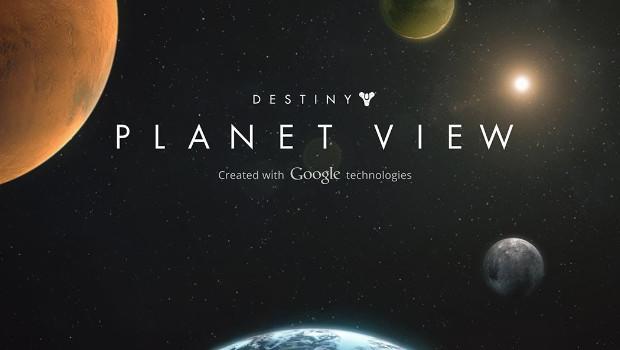 Destiny: esplora l'universo di gioco con Planet View