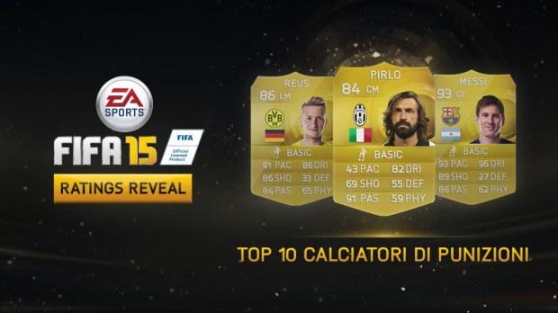 FIFA 15: la top 10 dei migliori calciatori di punizioni