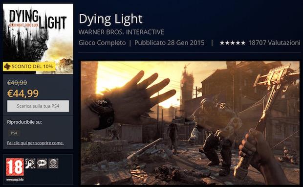 PlayStation Store, tutti i titoli in offerta: Dying Light a 49,99 euro