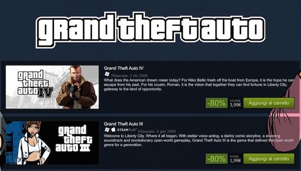 Grand Theft Auto: tutti i titoli in offerta su Steam