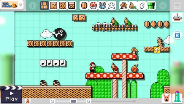Mario Maker: le nuove immagini mostrano l'editor e la condivisione dei livelli