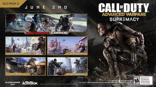Call of Duty: Advanced Warfare – data d'uscita e primo trailer dell'espansione Supremacy