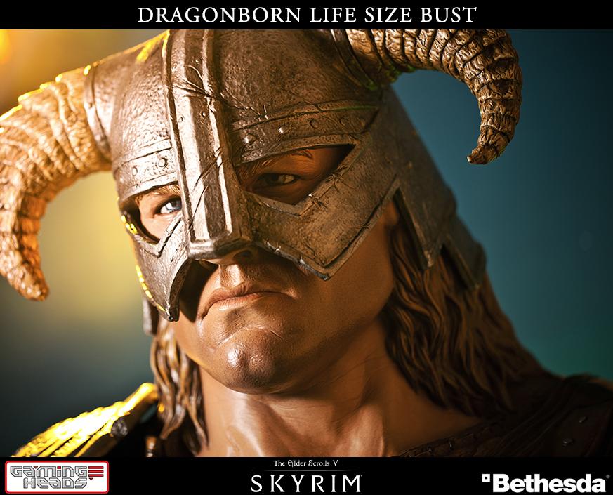 Skyrim: ecco il busto di Dragonborn a grandezza naturale