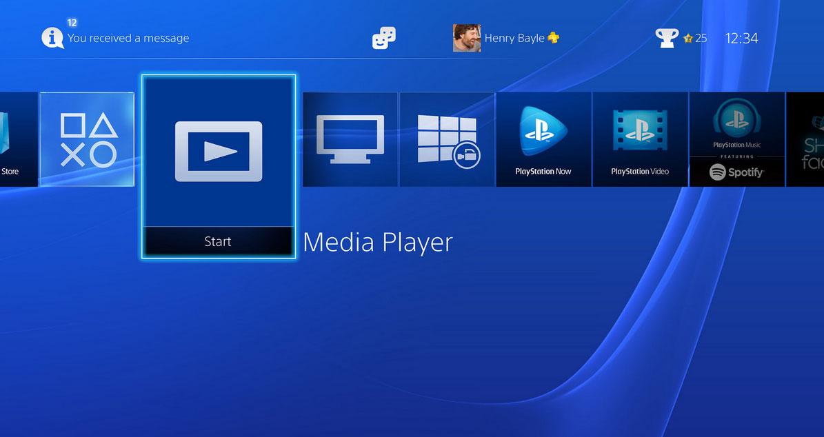 PlayStation 4, arriva il Media Player che supporta i file MKV
