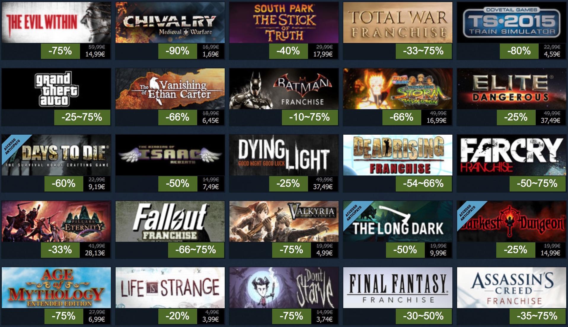 Steam, ultimi giorni di saldi estivi: 100 titoli in offerta per 48 ore
