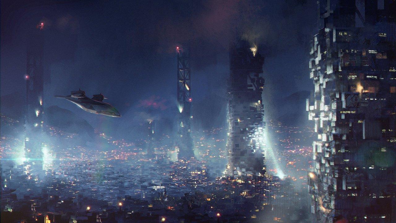 Deus Ex: Mankind Divided – Adam Jensen e le ambientazioni cyberpunk nei bozzetti di Frédéric Bennett