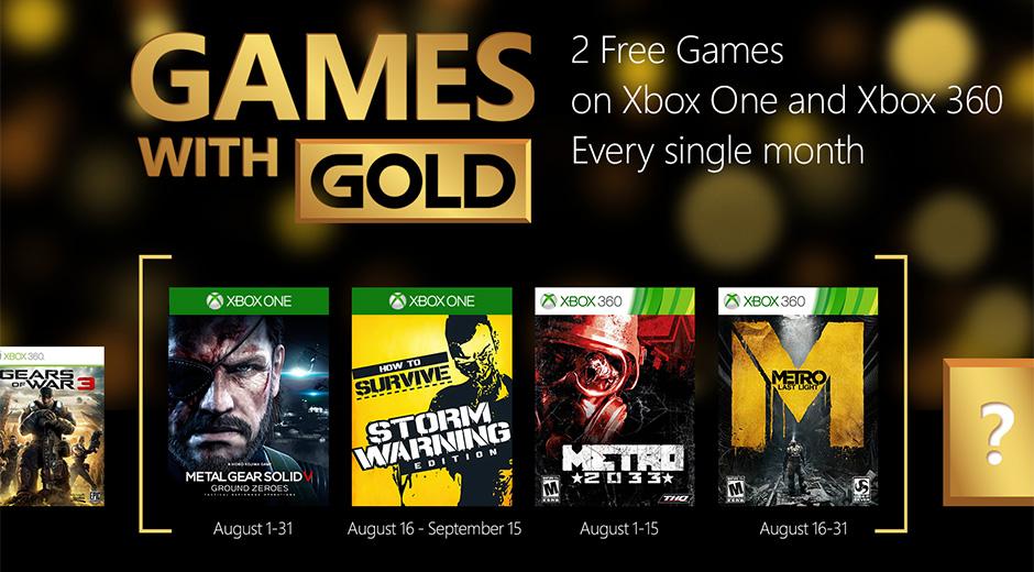 Games With Gold: svelati i titoli gratuiti di Agosto 2015
