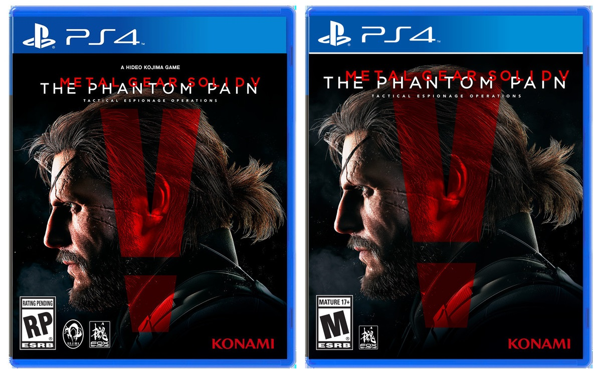 Metal Gear Solid V: The Phantom Pain, Hideo Kojima e Kojima Productions rimossi dalla copertina