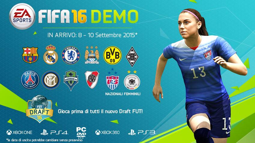 FIFA 16: data di uscita e primi dettagli sulla demo