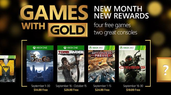 Games With Gold: ecco quali saranno i videogiochi gratuiti di Settembre 2015