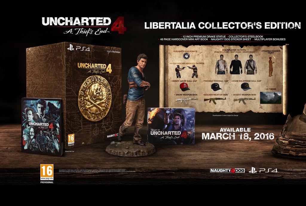 Uncharted 4: A Thief's End, svelate le edizioni speciali e da collezione