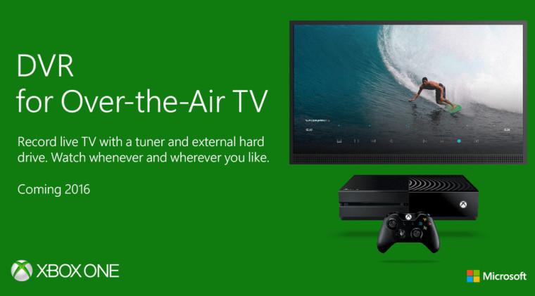 Microsoft annuncia la funzione TV-DVR per Xbox One