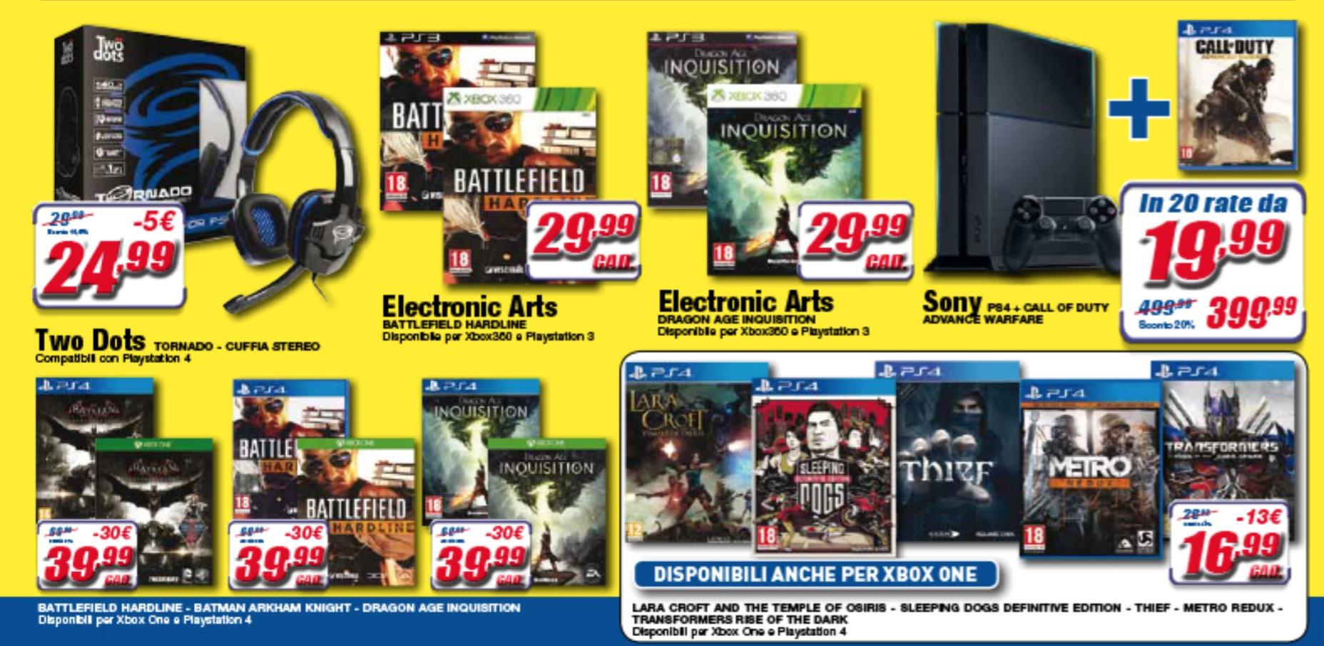 Le offerte di settembre 2015 per le console Xbox One e PlayStation 4