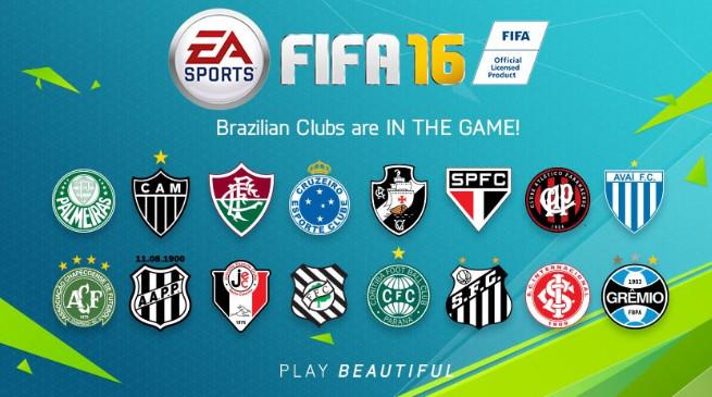 FIFA 16: annunciata la presenza di 16 squadre brasiliane