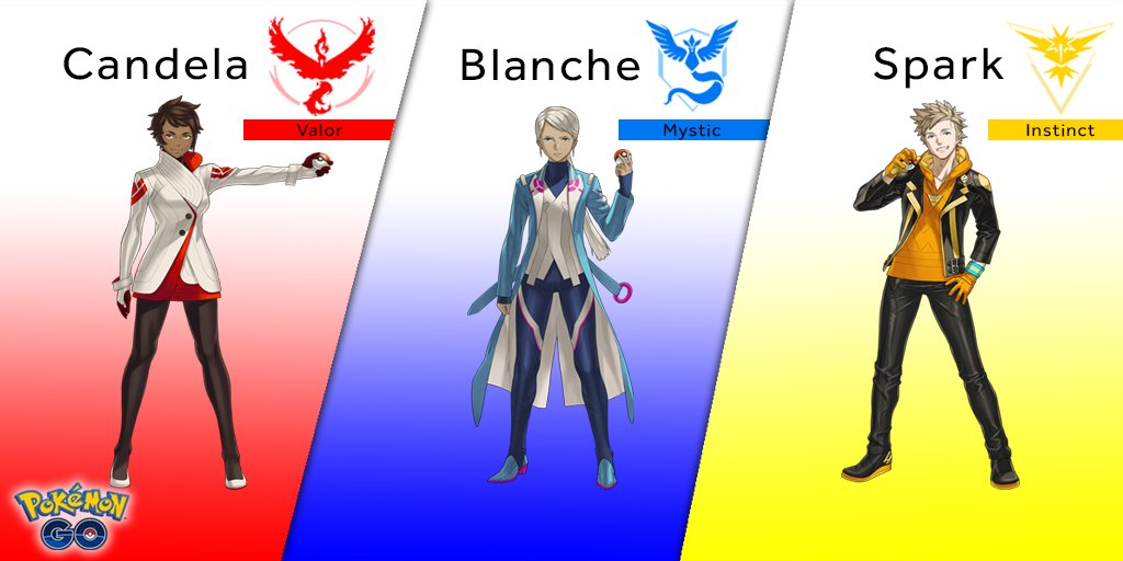 Pokémon Go, svelati i Team Leader: in arrivo lo scambio dei Pokémon