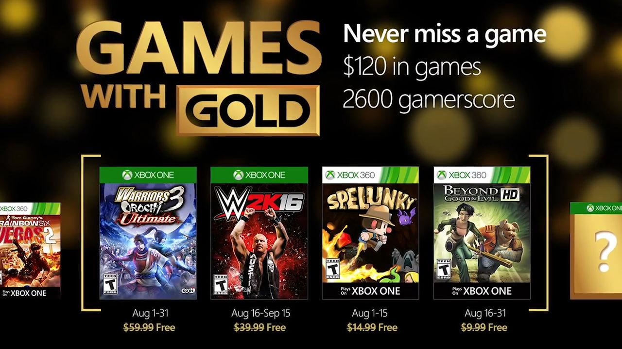 Games With Gold: annunciati i videogiochi gratuiti di Agosto