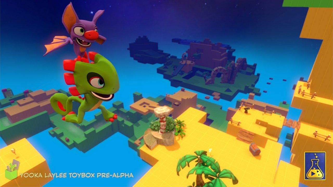 Yooka-Laylee: la demo Toybox disponibile su PC per i baker di Kickstarter
