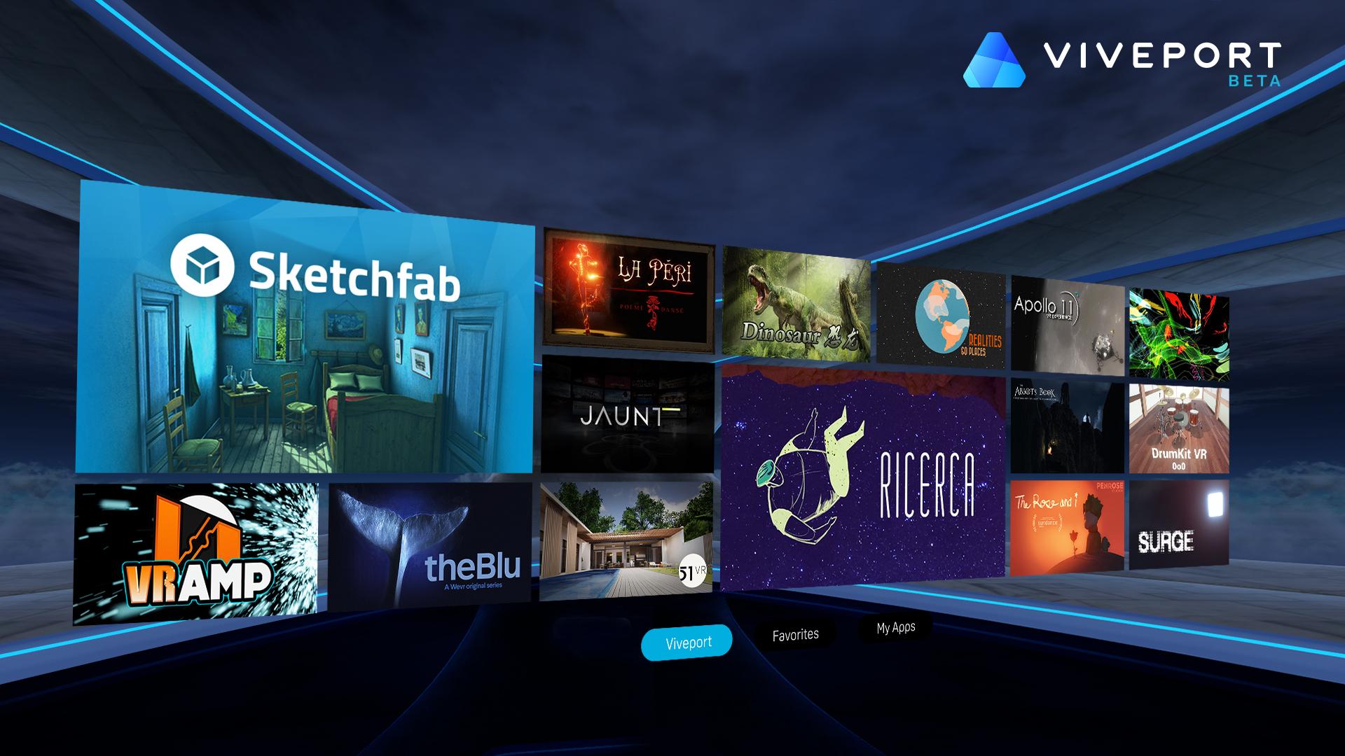 HTC lancia uno store per la realtà virtuale: ecco Viveport