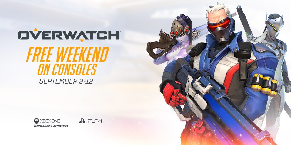 Overwatch giocabile gratis su PlayStation 4 e Xbox One durante il prossimo weekend