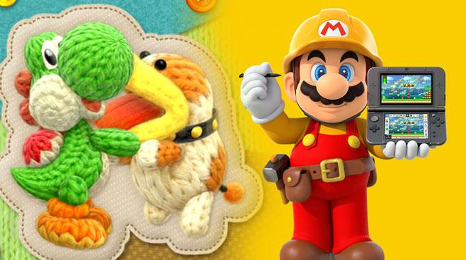 Super Mario Maker e Yoshi's Woolly World: annunciate le versioni per Nintendo 3DS