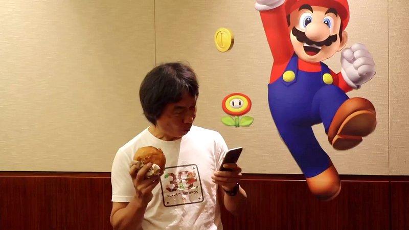 Super Mario Run: nuovo video promozionale con Miyamoto. E un hamburger