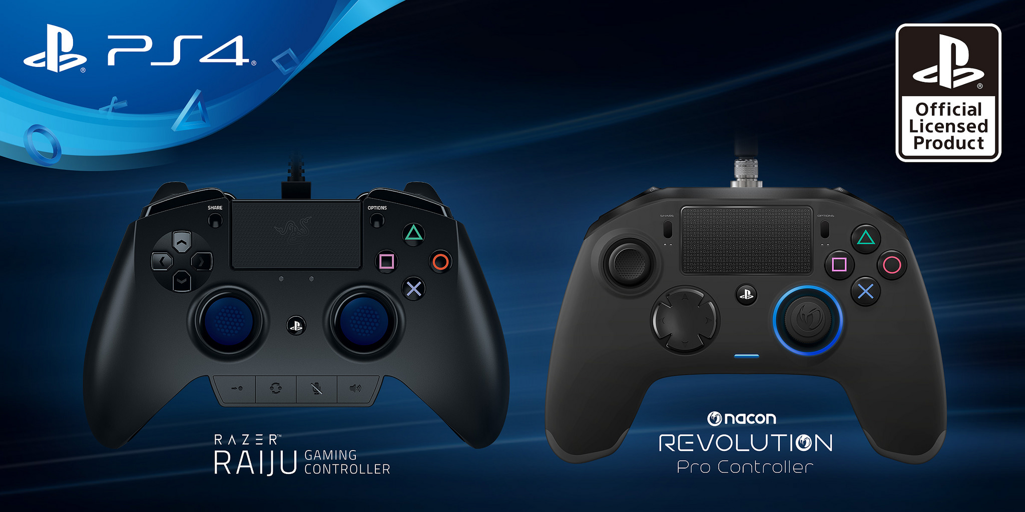 PlayStation 4, svelati i due nuovi controller pro firmati Razer e Nacon