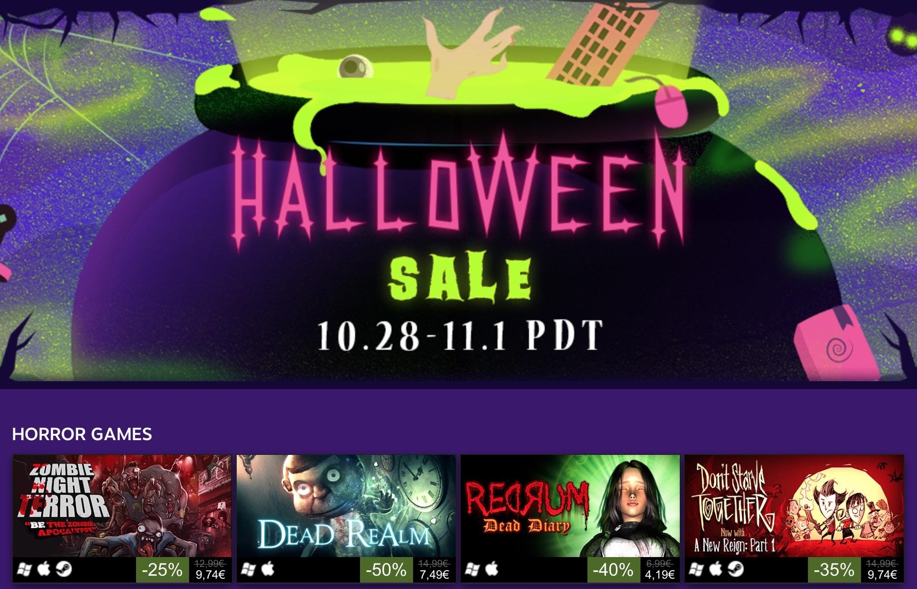 Saldi di Halloween 2016, al via su Steam le offerte PC
