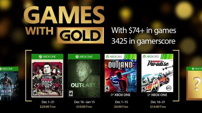 Games With Gold: annunciati i videogiochi gratuiti di Dicembre