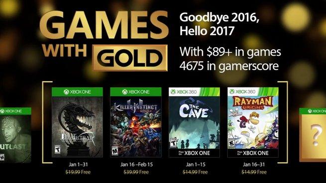Games With Gold: svelati i videogiochi gratuiti di Gennaio