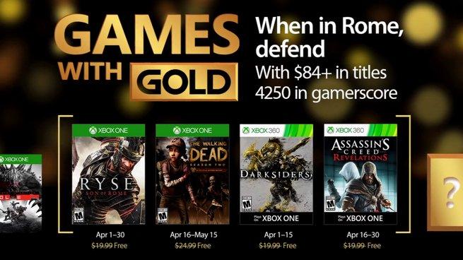 Games With Gold: svelati i videogiochi gratuiti di Aprile per Xbox One e Xbox 360