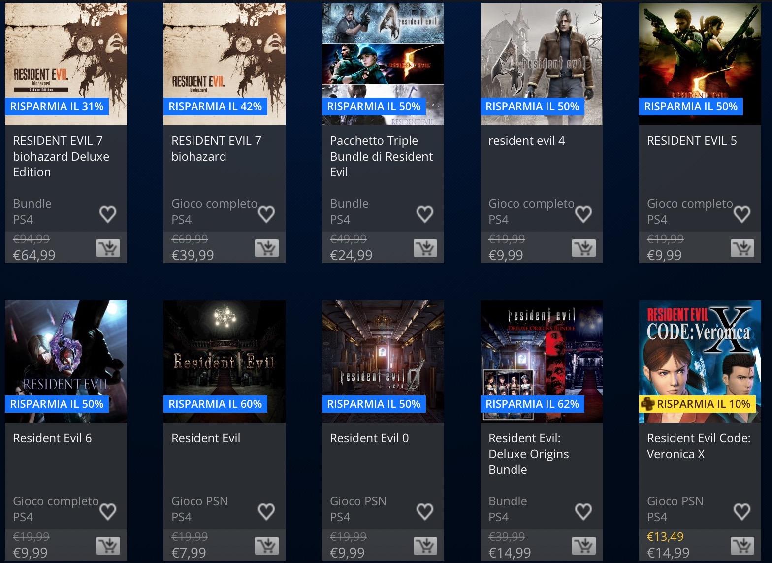 PlayStation Store, al via i saldi di maggio: Resident Evil 7 e Doom in offerta