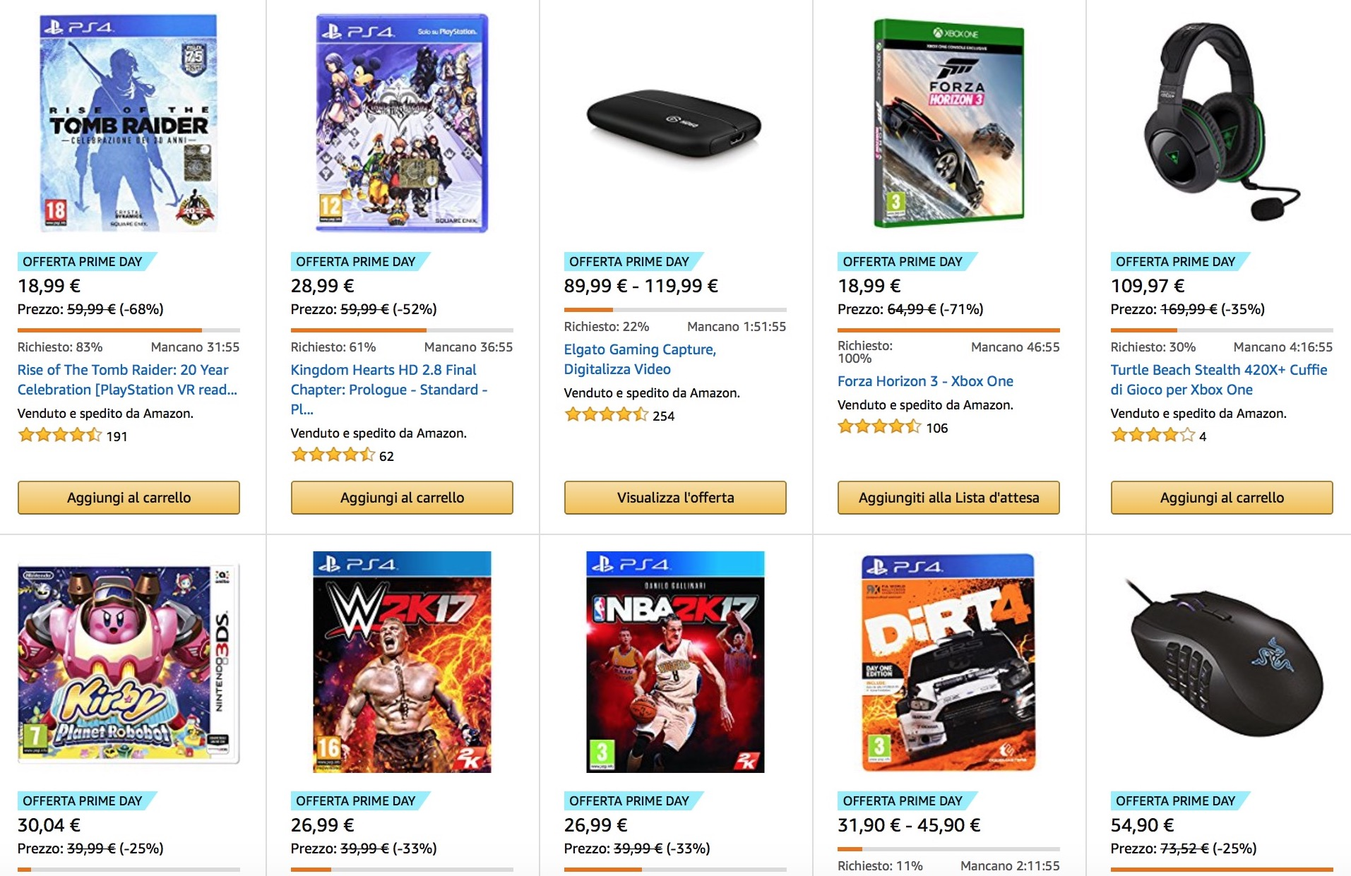 Amazon Prime Day 2017: tutti i videogiochi e le console in offerta