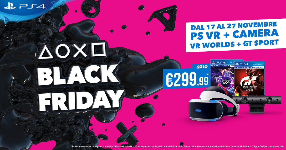 Black Friday 2017 di PlayStation: tutte le offerte in programma