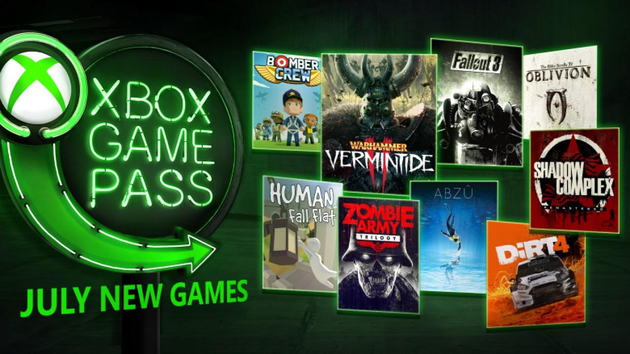 Xbox Game Pass: DiRT 4, ABZU e Warhammer Vermintide 2 tra i videogiochi gratis di luglio