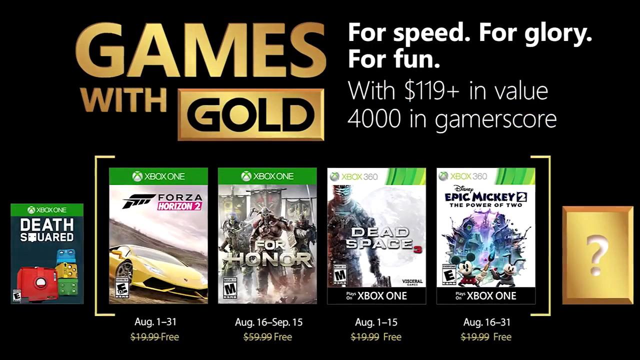 Games With Gold: ecco i videogiochi gratuiti di Agosto
