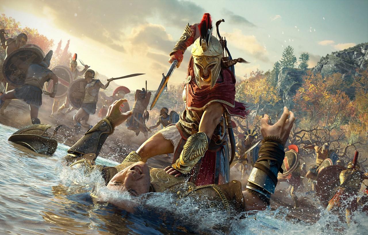 Assassin's Creed Odyssey: Kassandra e Alexios combattono in foto e video alla Gamescom