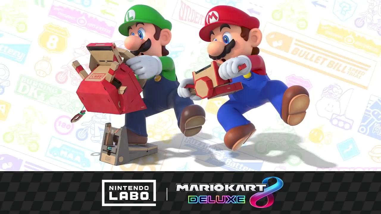 Mario Kart 8 Deluxe sarà compatibile con il Kit Veicoli di Nintendo Labo – guarda il video