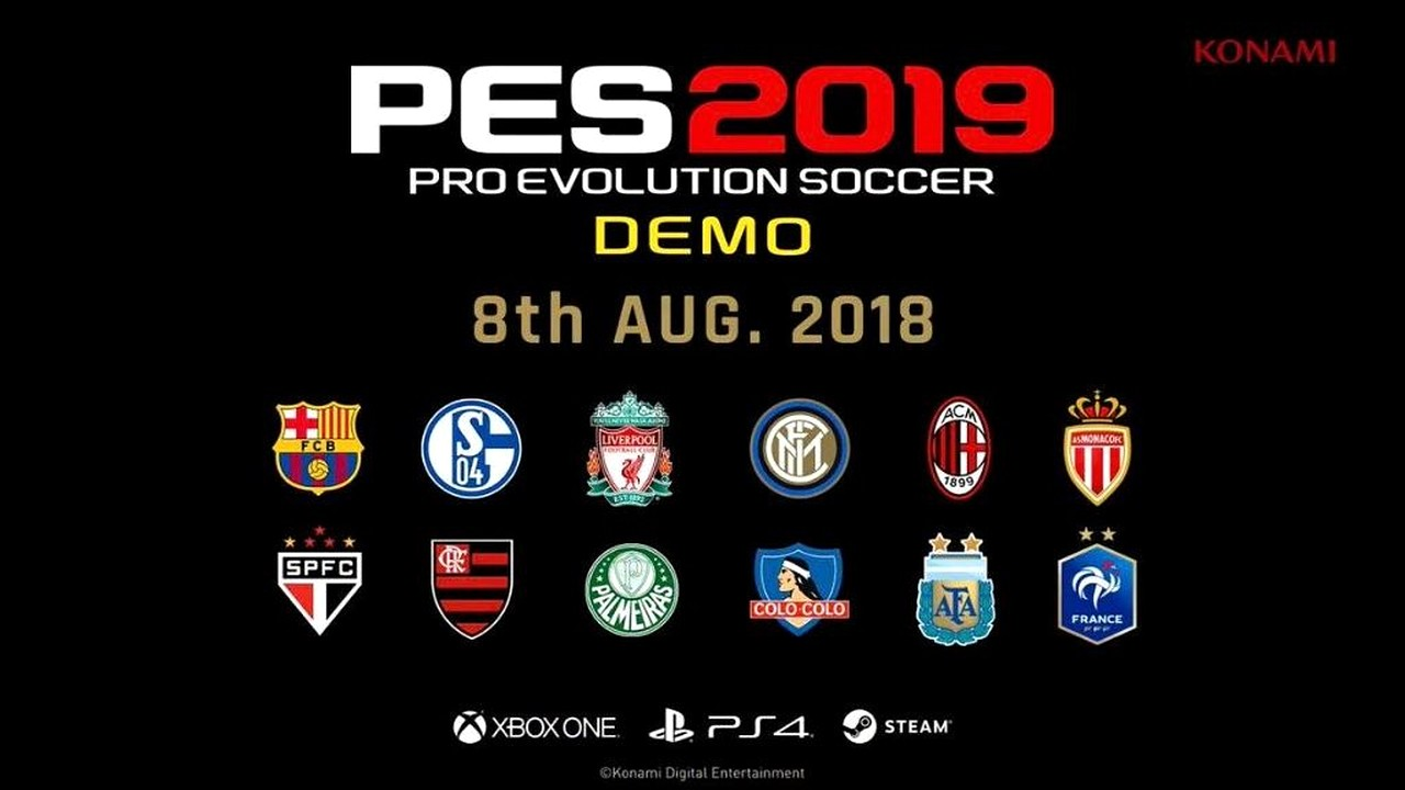 PES 2019, al via la demo per Xbox One e PS4