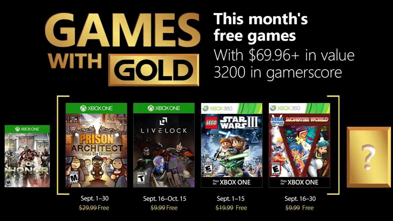 Games With Gold: ecco quali saranno i videogiochi gratuiti di Settembre