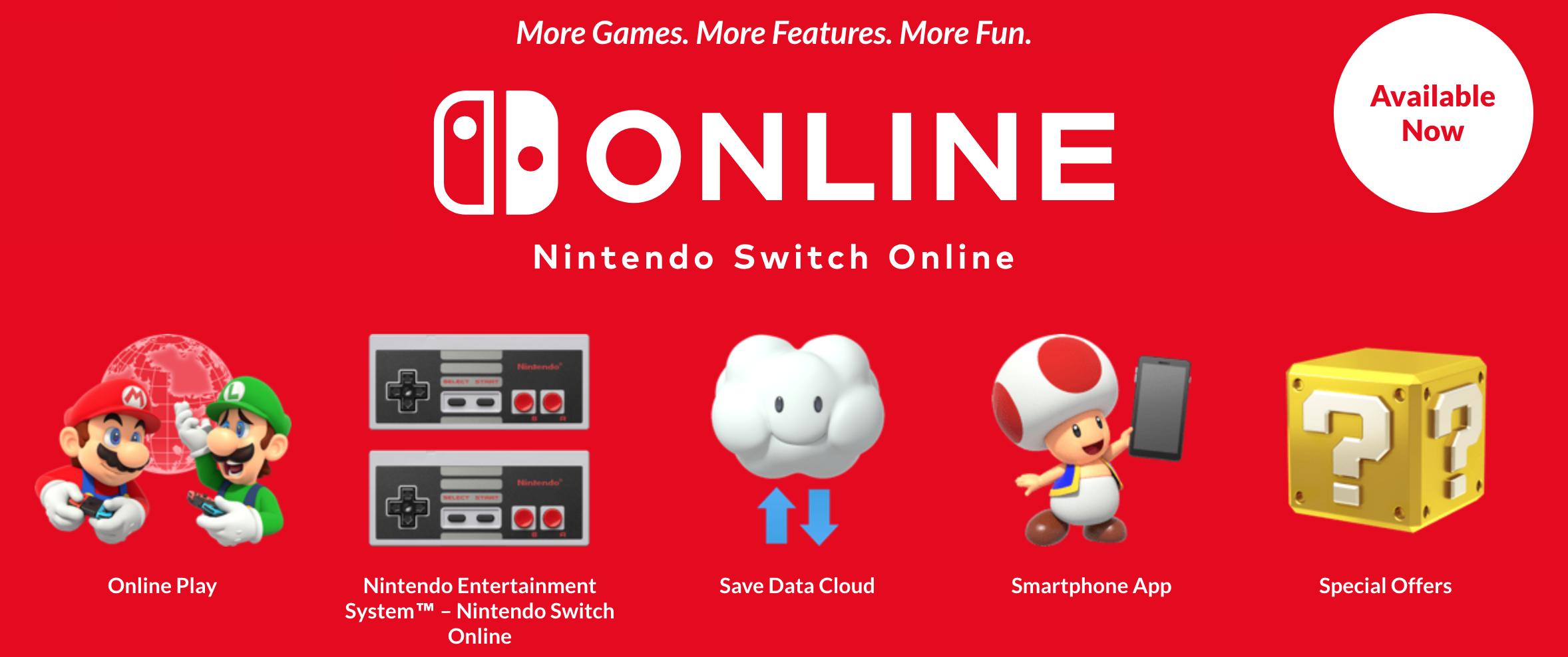 Nintendo Switch Online, salvataggi cloud a tempo limitato