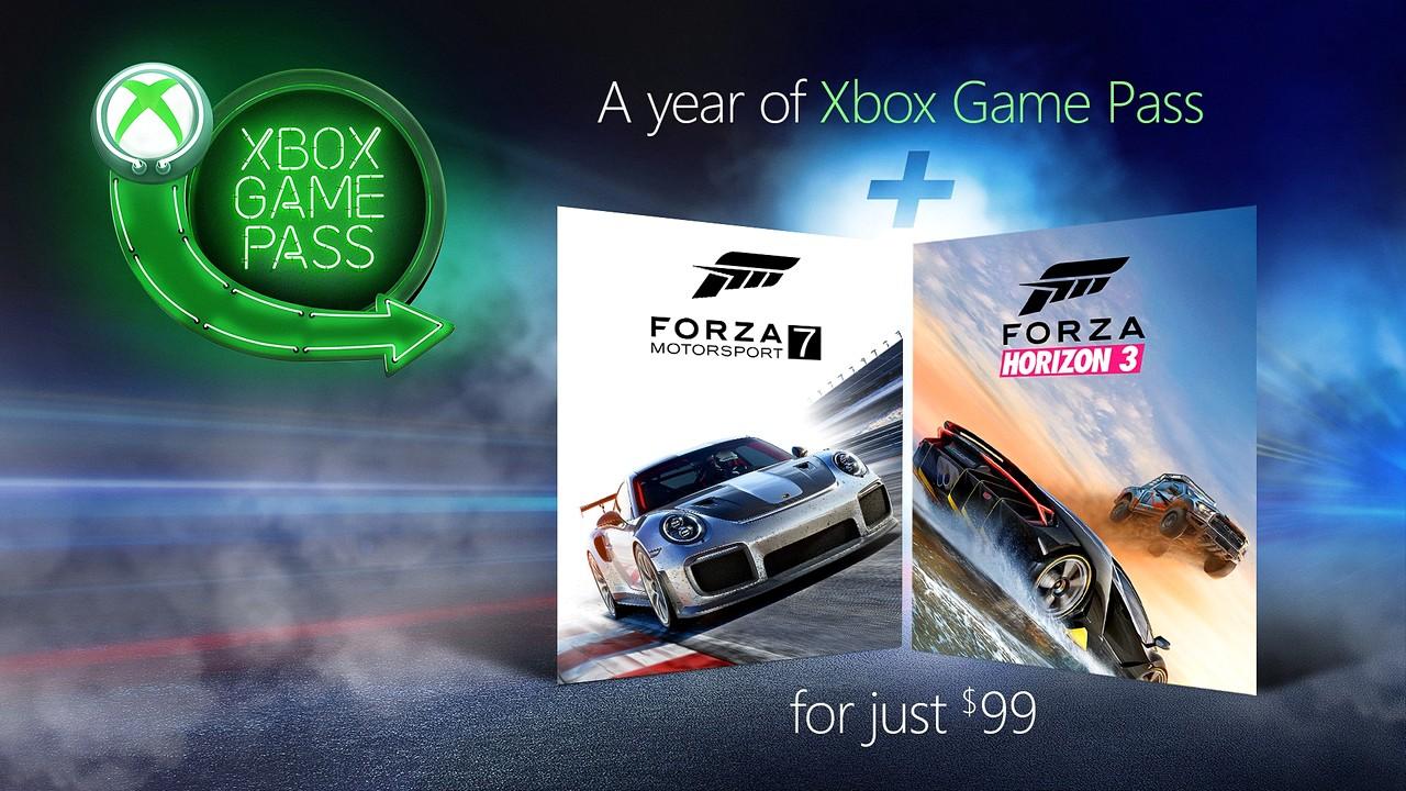 Xbox Game Pass: Forza Motorsport 7 e Forza Horizon 3 in regalo con l'abbonamento annuale