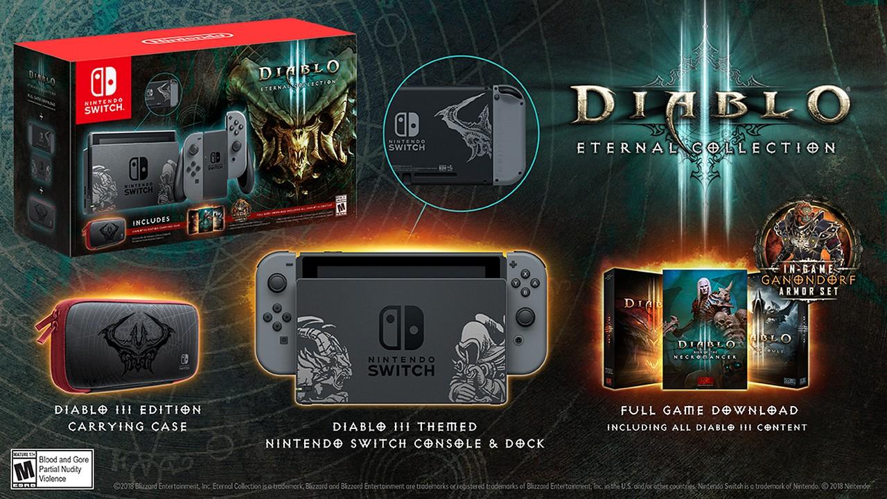 Nintendo Switch: svelato il bundle con Diablo III Eternal Collection