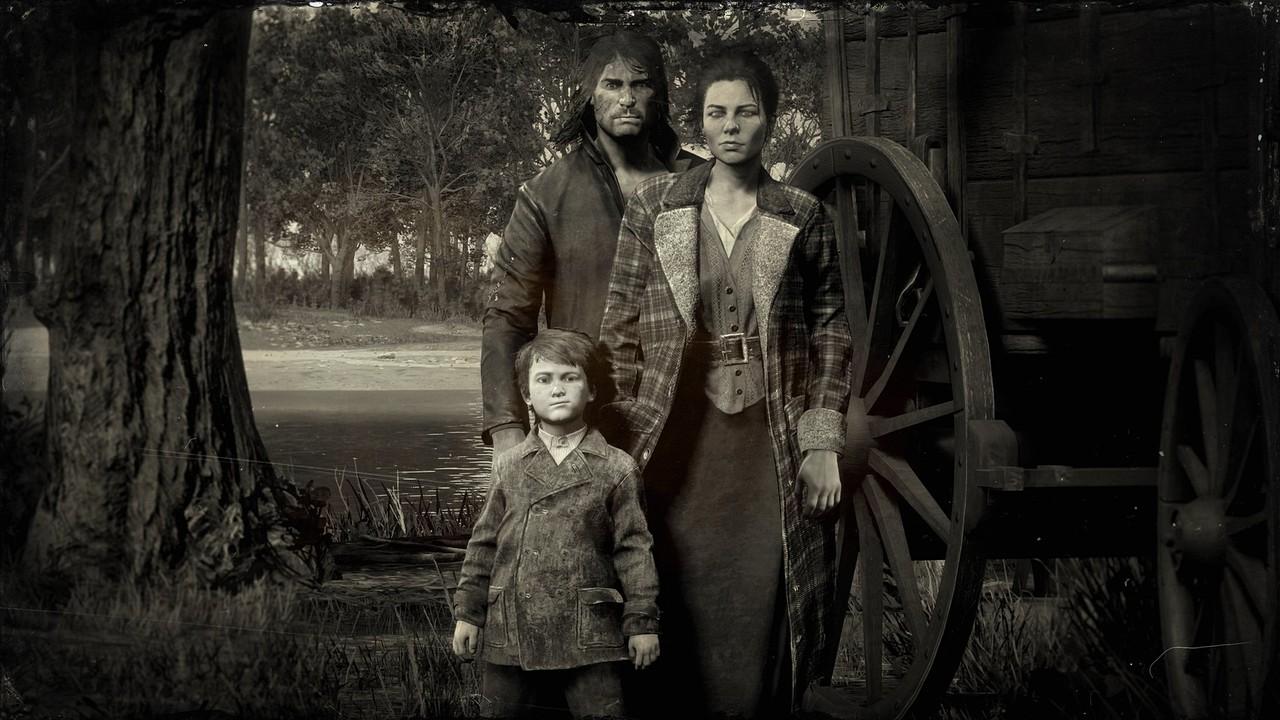 Red Dead Redemption 2: tris di scatti d'epoca con Arthur Morgan e John Marston