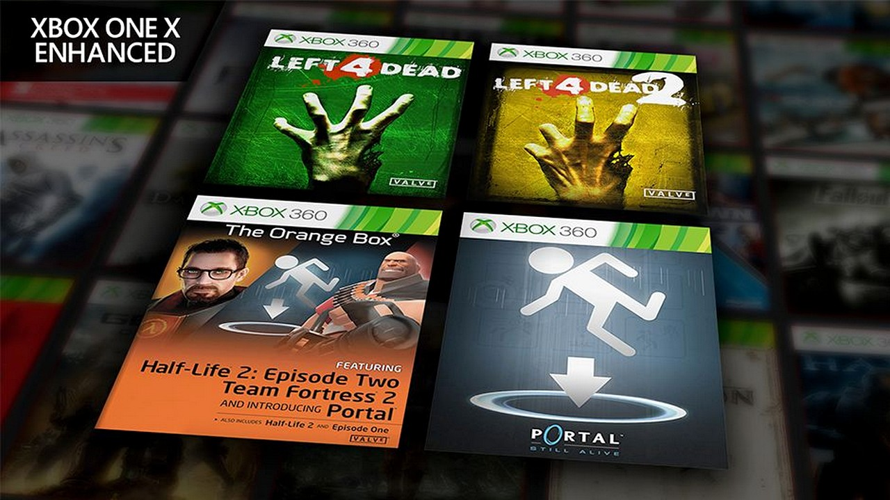 Left 4 Dead, Half-Life 2 The Orange Box e Portal entrano nel catalogo Xbox One X Enhanced