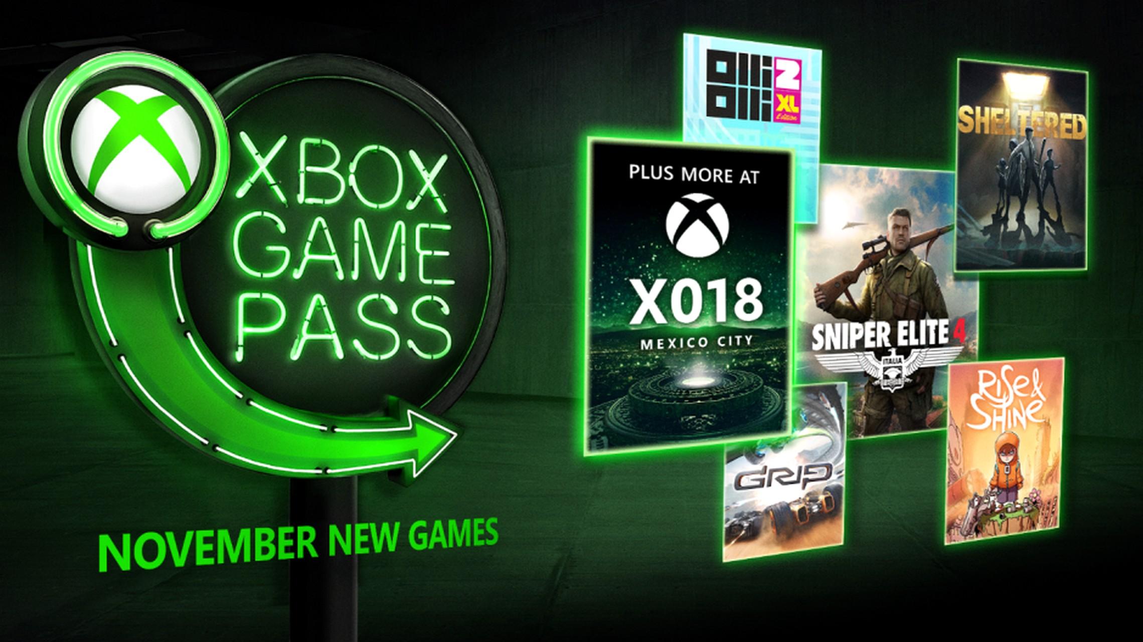 Xbox Game Pass: Olli Olli 2, Sniper Elite 4 e Grip tra i giochi gratis di novembre